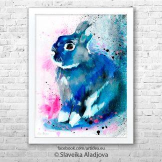 Картина син заек