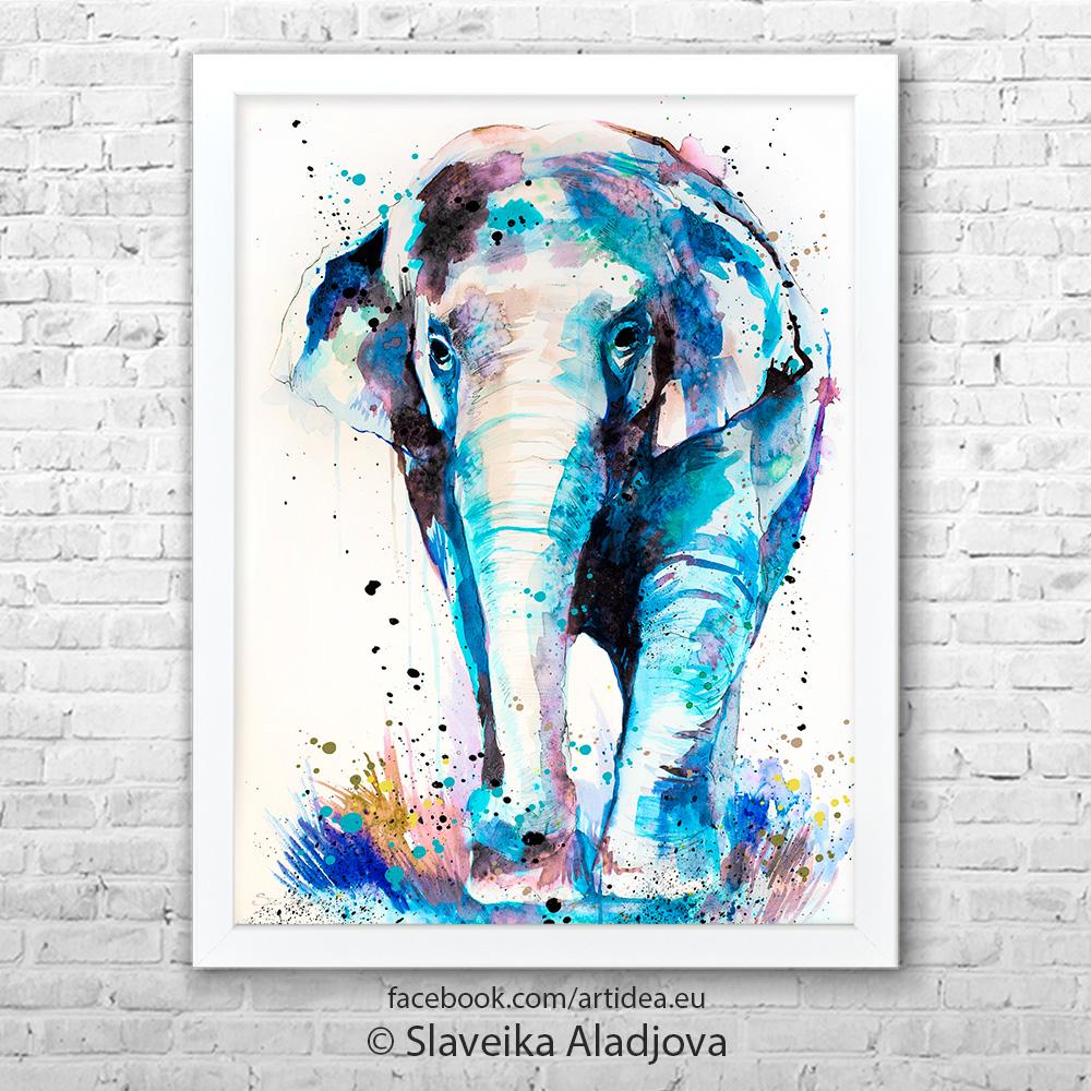 Картина слон Азия