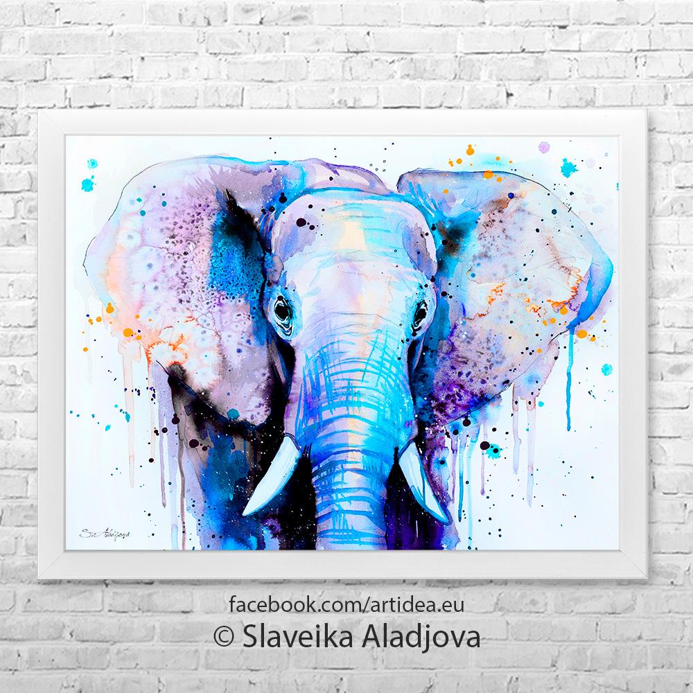 Картина слон 2