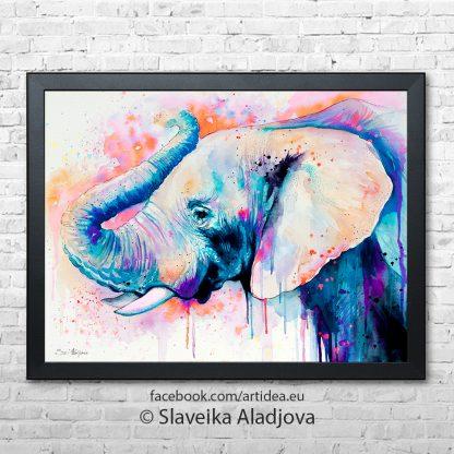 картина слон 4