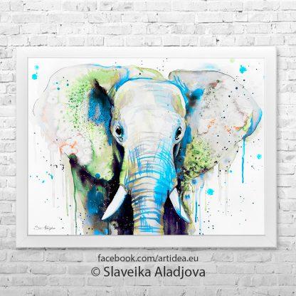 картина слон 3