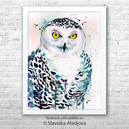 картина снежна сова
