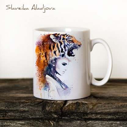 Чаша Жена тигър - художник Славейка Аладжова
