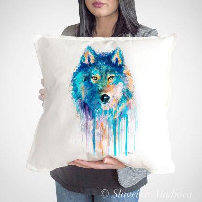 възглавница с вълк
