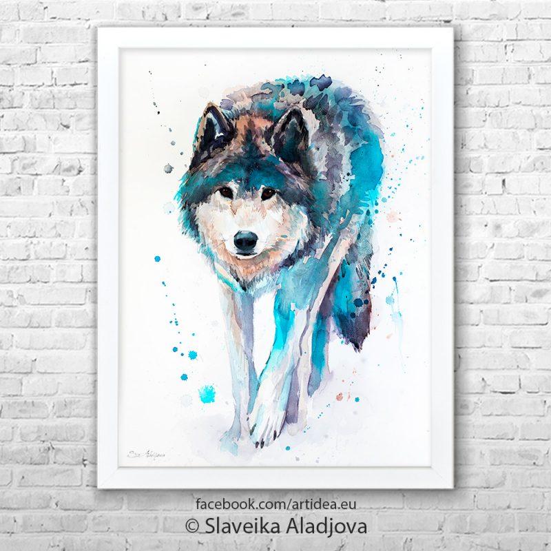 Картина ходещ вълк
