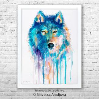 картина синия вълк