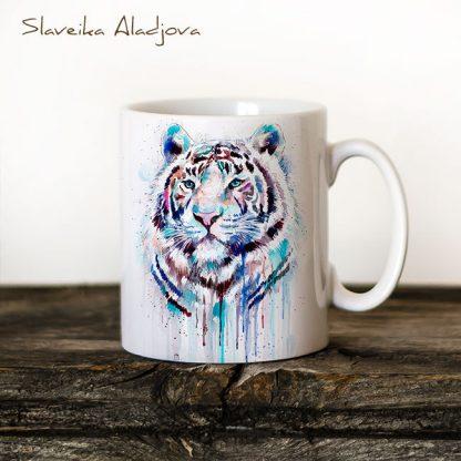 Чаша Бял тигър - художник Славейка Аладжова