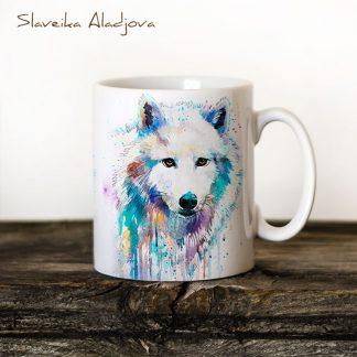 Чаша Бял вълк - художник Славейка Аладжова