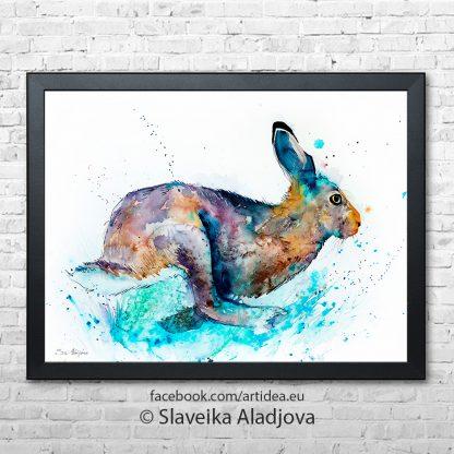 Картина бягащ заек