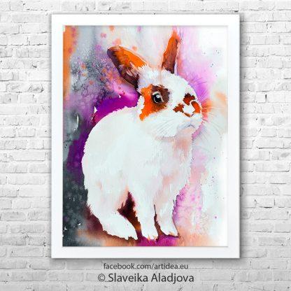 Картина бял заек