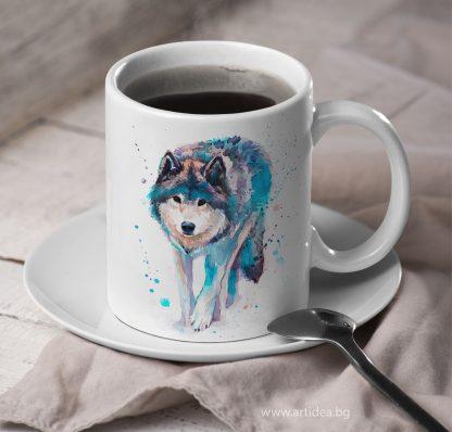 Чаша ходещ вълк – художник Славейка Аладжова