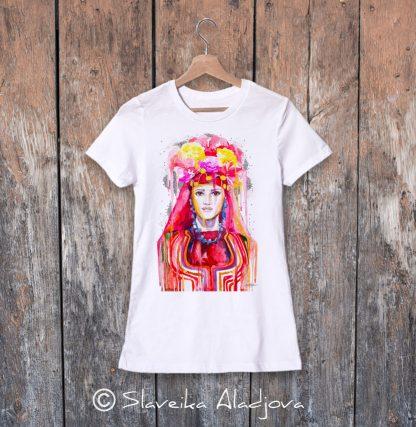 дамска тениска с мома тракийска