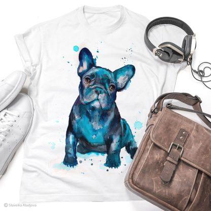 Тениска с френски булдог