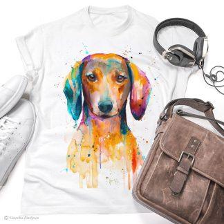 Тениска с куче дакел