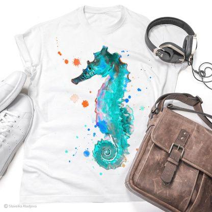 Тениска с морско конче