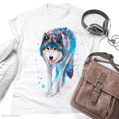 Тениска с ходещ вълк