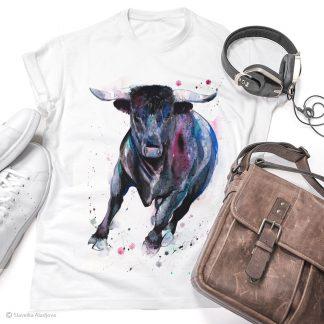 тениска с бик