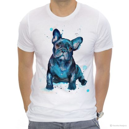 Тениска с куче френски булдог