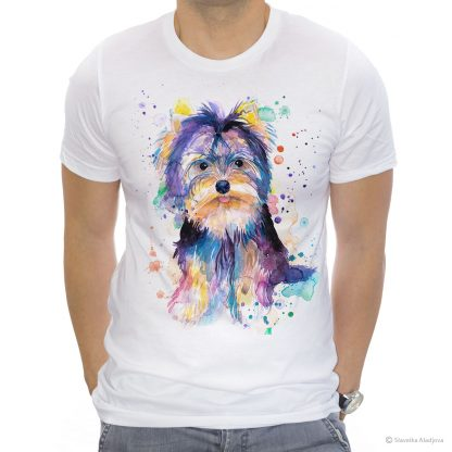 Тениска с йоркширски териер