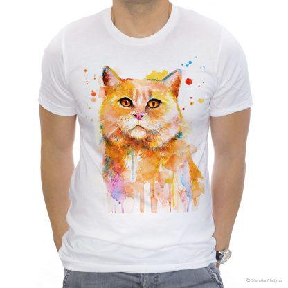 Унисекс тениска с котка