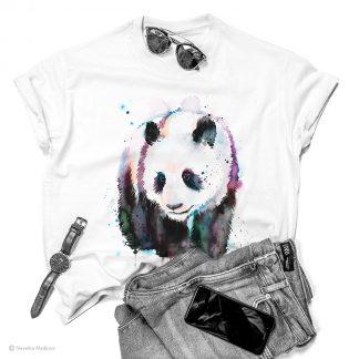 Унисекс тениска с животно панда