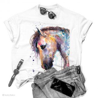 Тениска с кон