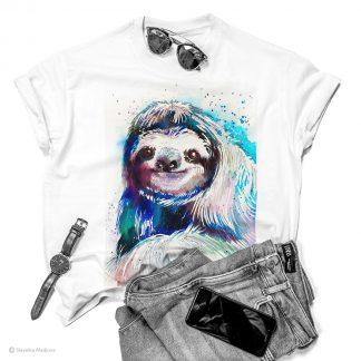Тениска с ленивец
