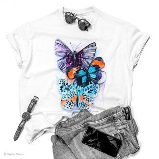 Тениска с пеперуди