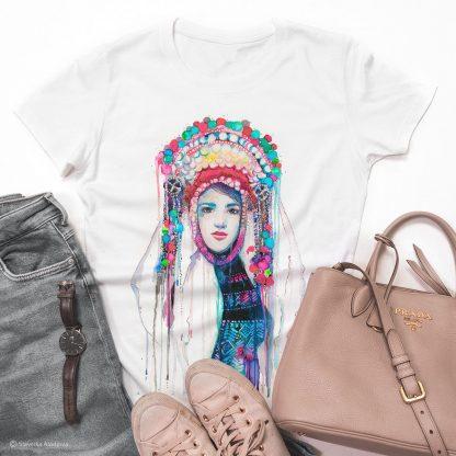 Унисекс тениска - Шопска мома, фолклорен мотив