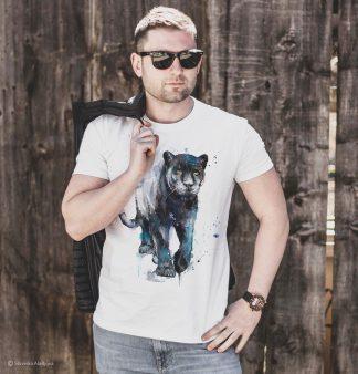 Тениска черна пантера
