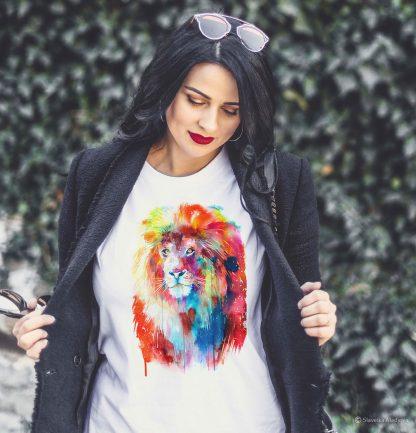 Тениска с лъв