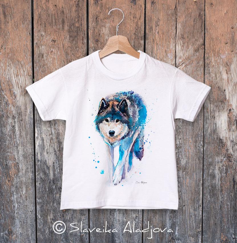 детска тениска ходещ вълк