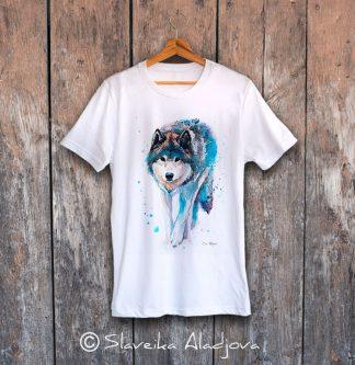 Мъжка тениска ходещ вълк