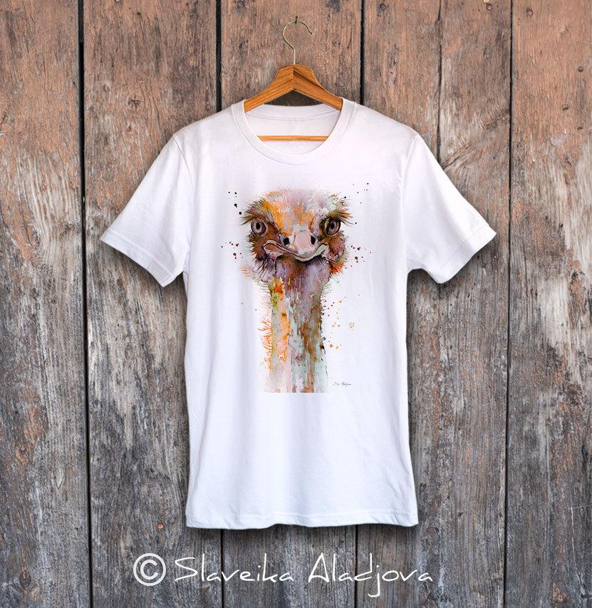 мъжка тениска с щраус