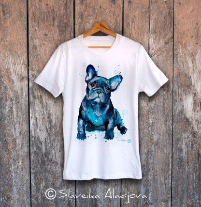 Мъжка тениска френски булдог