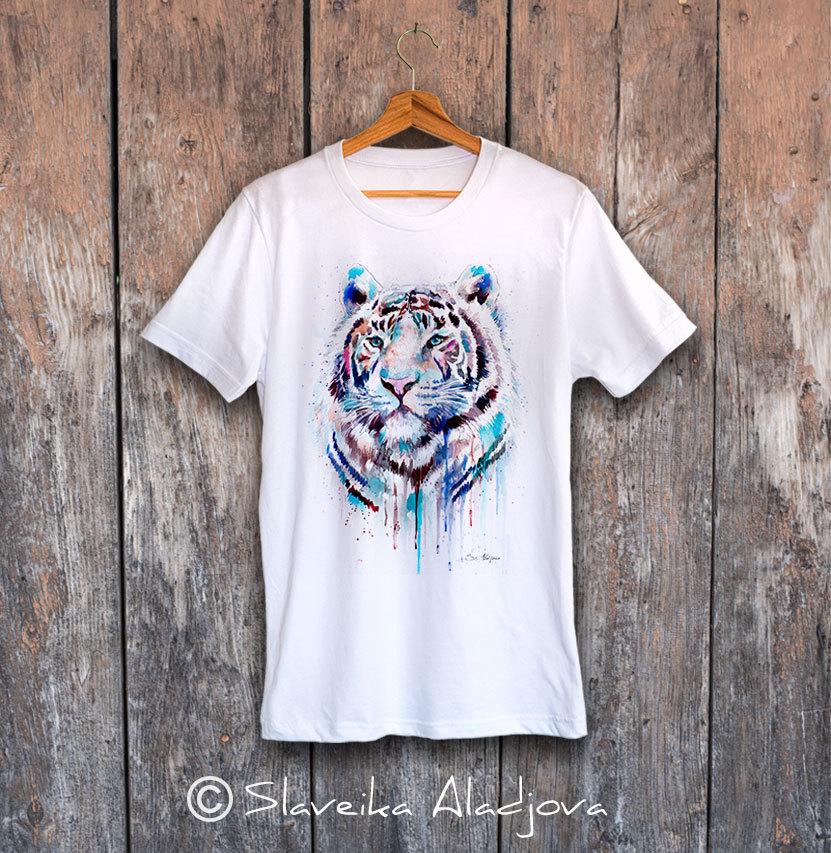 Мъжка тениска белия тигър