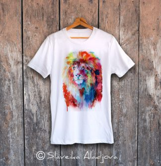 мъжка тениска с лъв