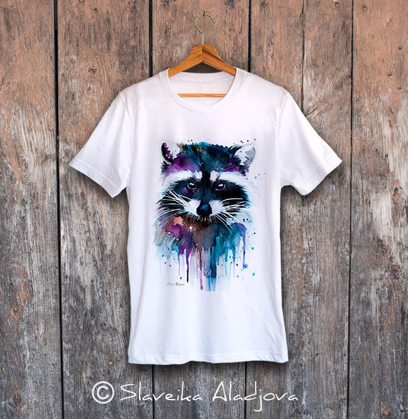 мъжка тениска с енот