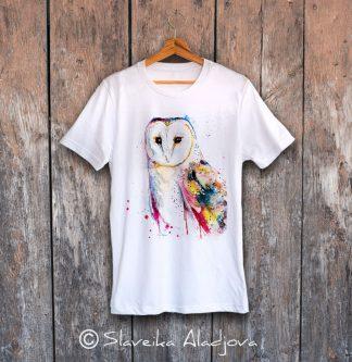 мъжка тениска със сова