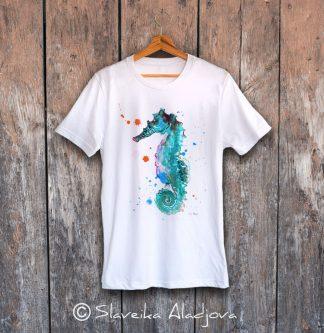 мъжка тениска морско конче
