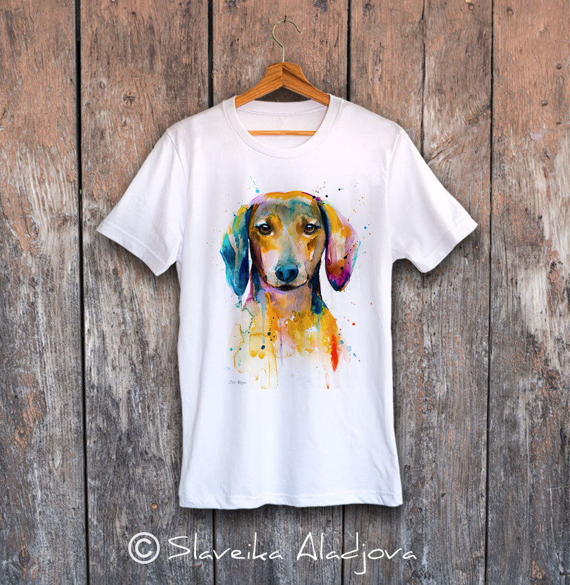 мъжка тениска с дакел