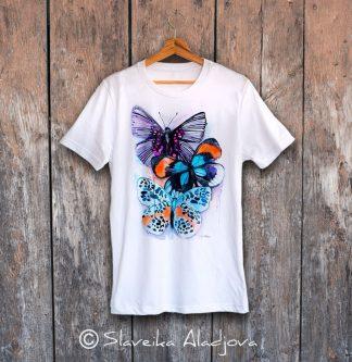 мъжка тениска с пеперуди 2