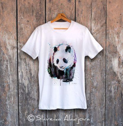 мъжка тениска с панда