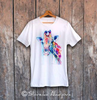 мъжка тениска с жираф