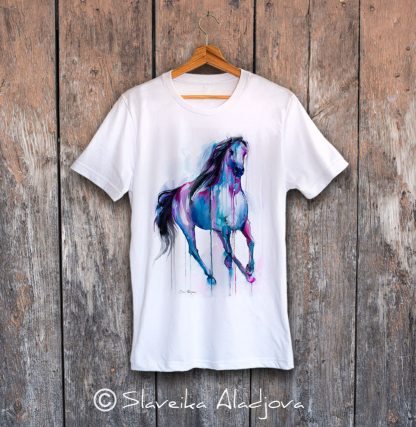 мъжка тениска с кон