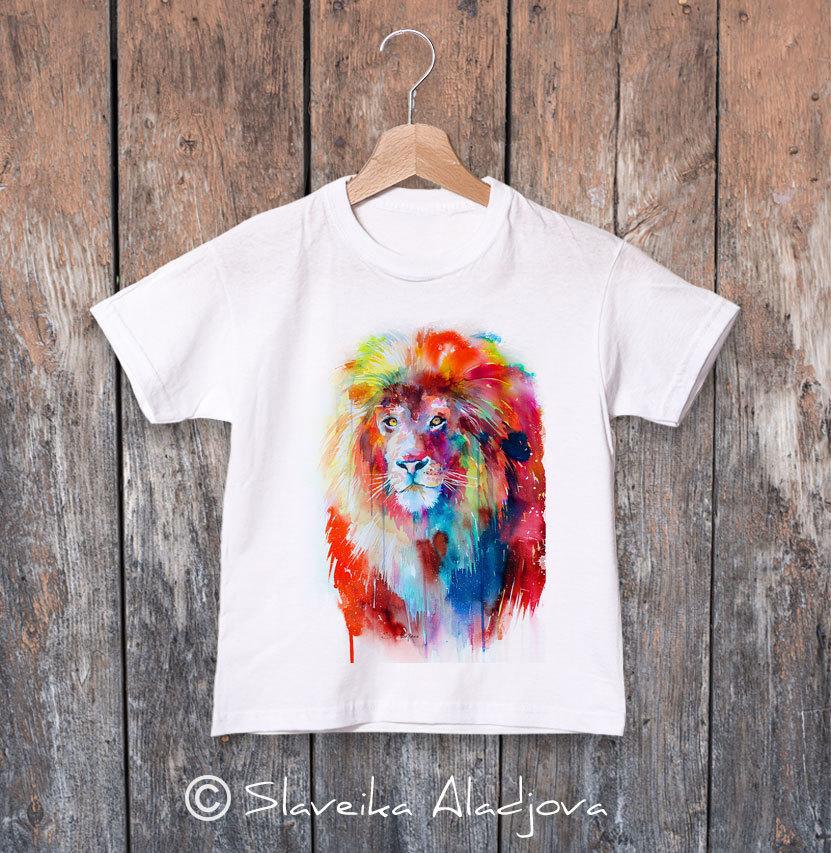 Детска тениска с лъв