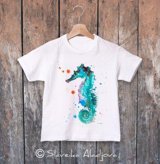 детска тениска морско конче