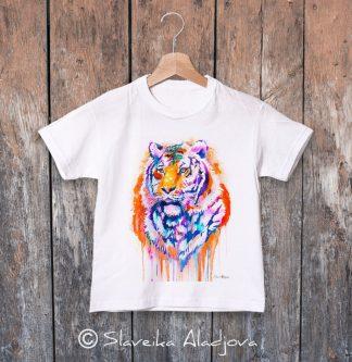 детска тениска оранжев тигър
