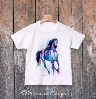 детска тениска с кон