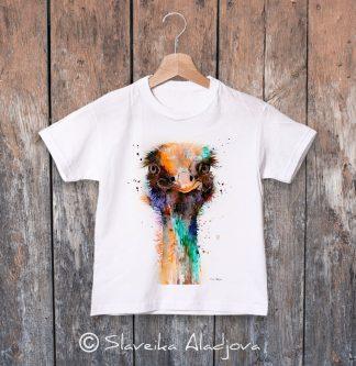 детска тениска с щраус